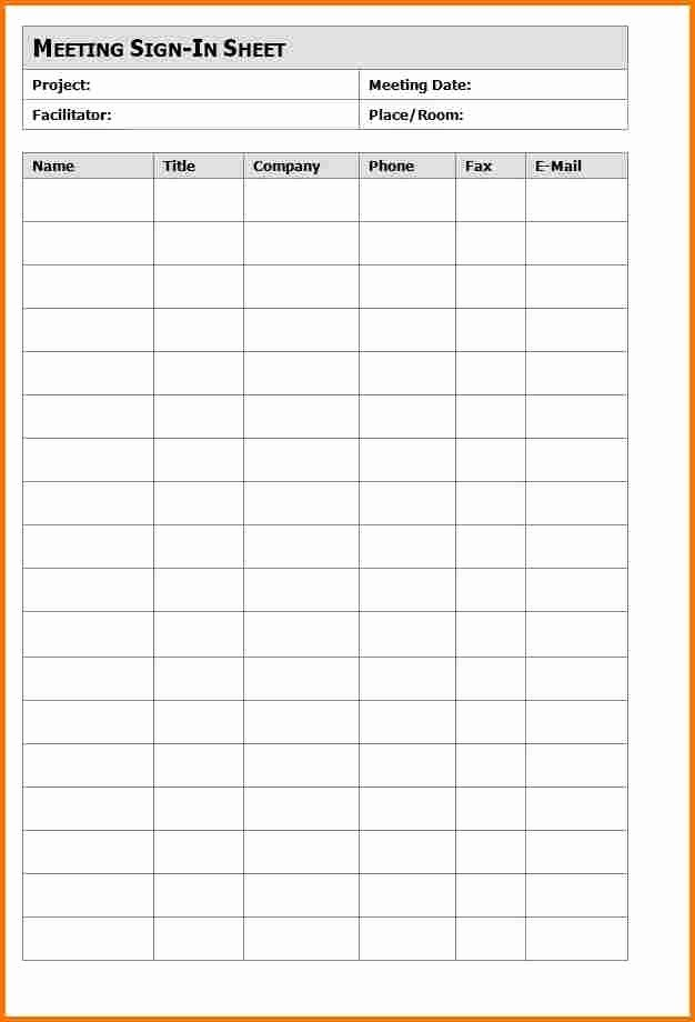 Meeting Sign Up Sheet Template Beautiful Meeting Sign In Sheet Template