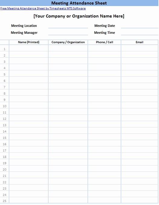 Meeting Sign Up Sheet Template Unique Printable Sign In Sheet Templates