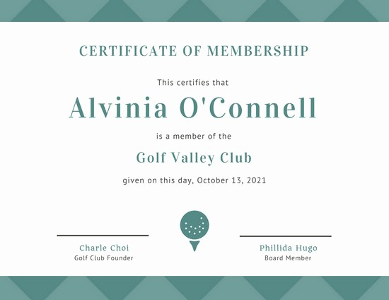 Member Of the Month Certificate Awesome Customize 64 Membership Certificate Templates Online Canva