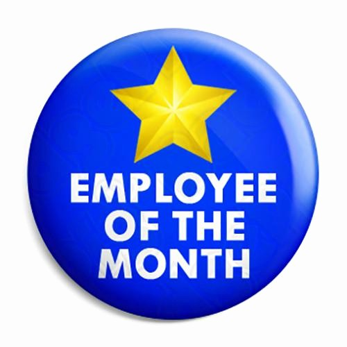 Member Of the Month Certificate Awesome Employee Of the Month Award button Badge Fridge Magnet