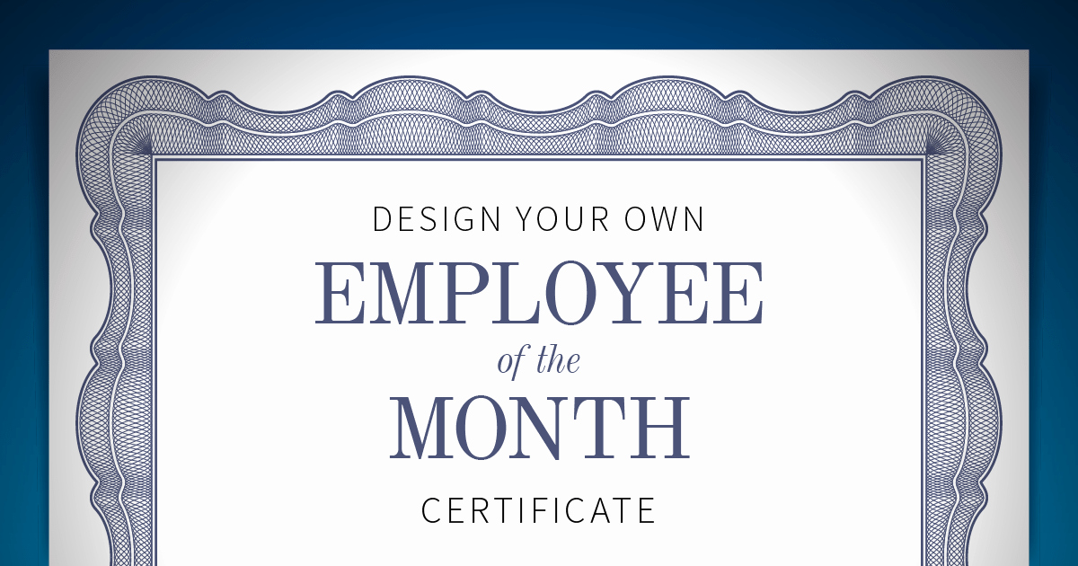 Member Of the Month Certificate Awesome Employee Of the Month Certificate