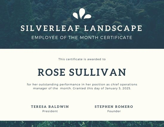 Member Of the Month Certificate Beautiful Customize 1 508 Employee the Month Certificate
