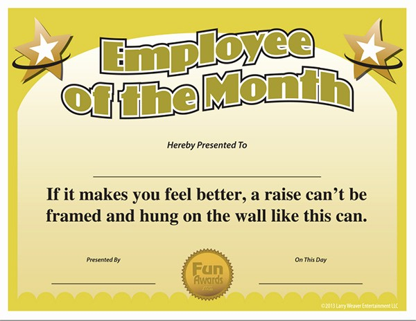Member Of the Month Certificate Beautiful Employee the Month Template