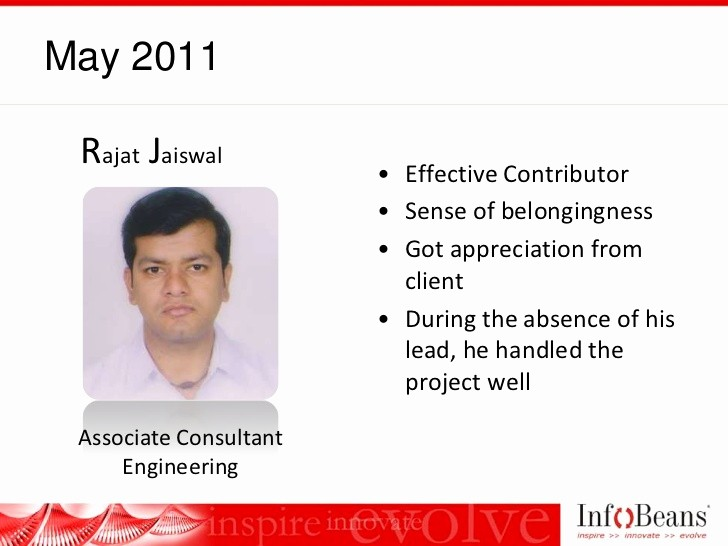Member Of the Month Certificate Fresh Infobeans Team Member the Month Award Roster