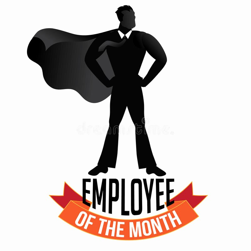 Member Of the Month Certificate Inspirational Employee the Month Male isolated White Stock Vector