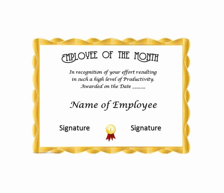 Member Of the Month Certificate New 30 Printable Employee Of the Month Certificates