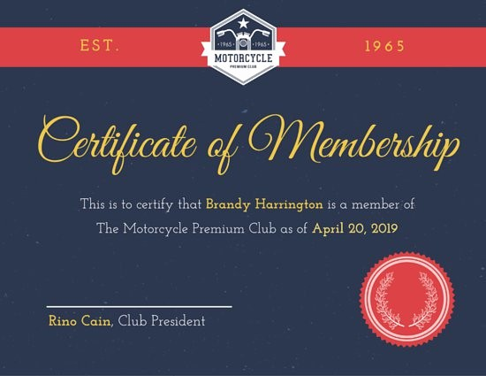 Member Of the Month Certificate New Customize 1 965 Certificate Templates Online Canva
