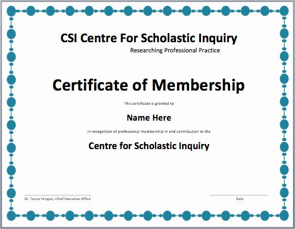 Membership Card Template Microsoft Word Beautiful Membership Certificate Template Free Template Downloads