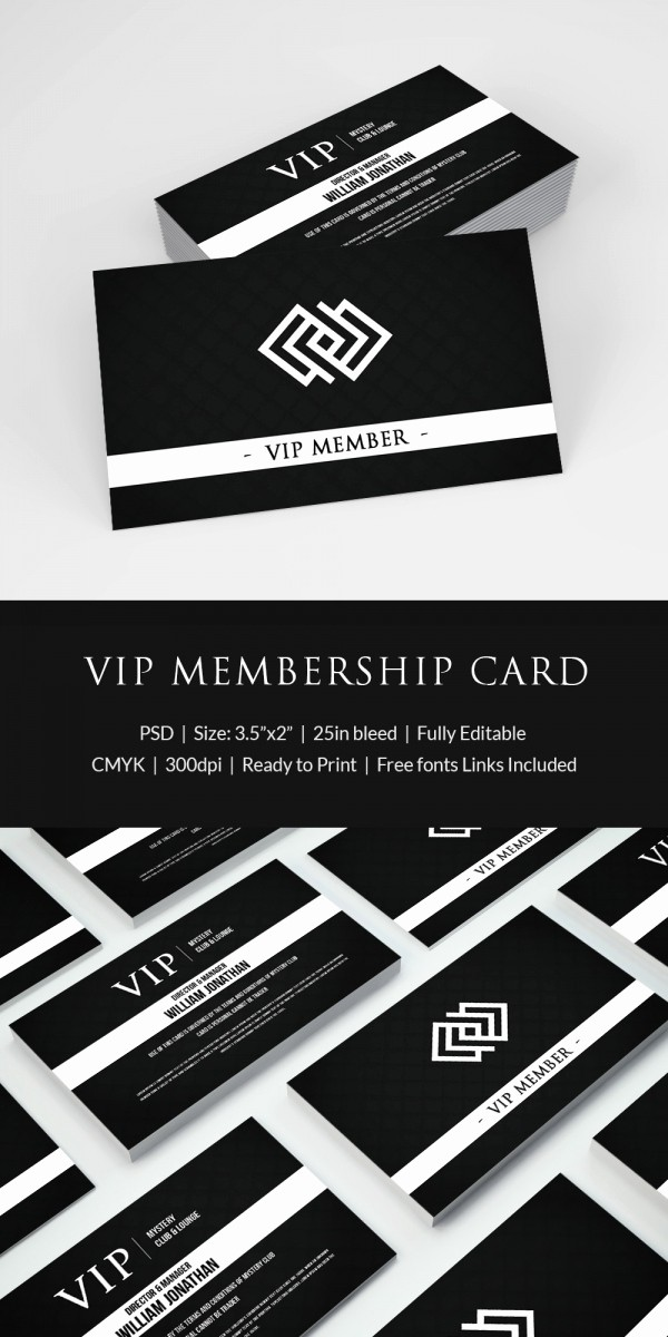 Membership Card Template Microsoft Word Elegant 35 Membership Card Designs & Templates