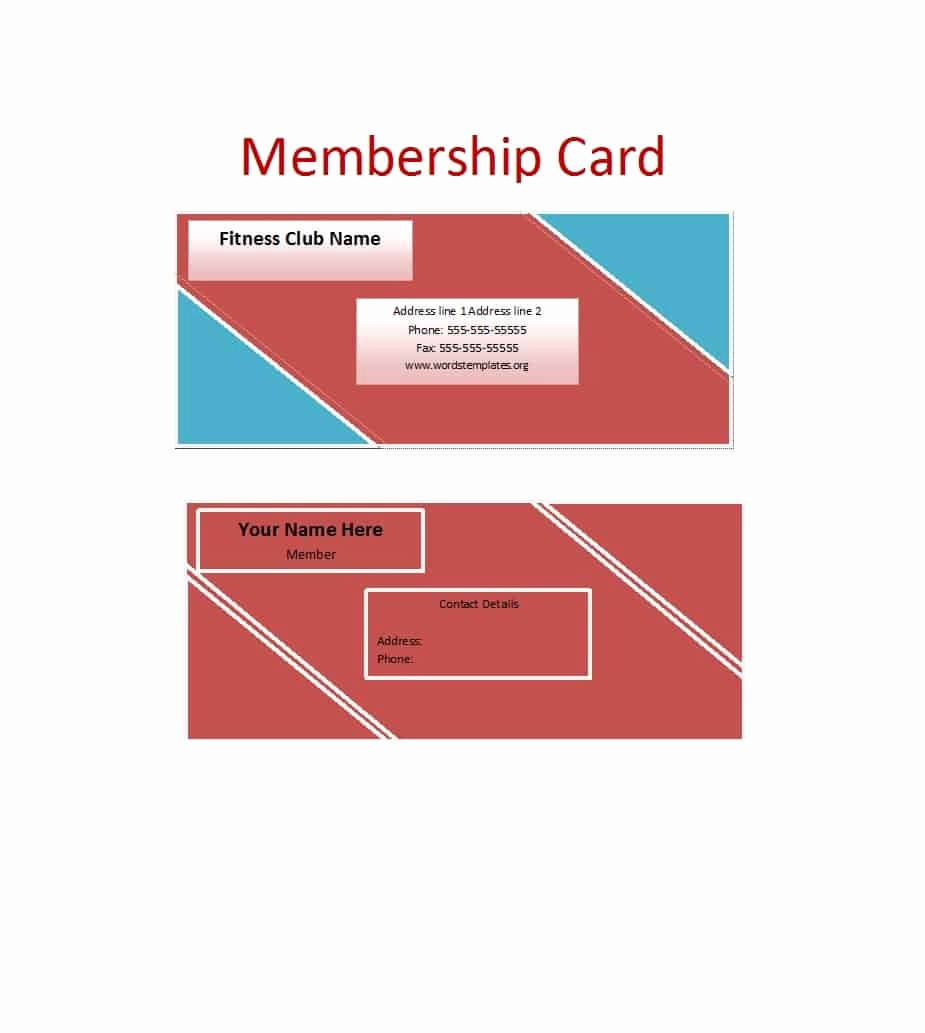 Membership Card Template Microsoft Word Inspirational 25 Cool Membership Card Templates & Designs Ms Word