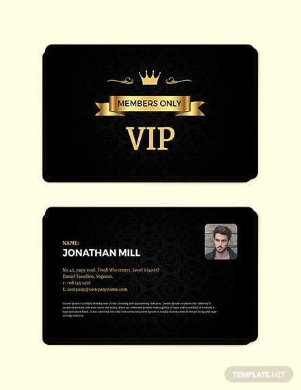 Membership Card Template Microsoft Word New Free Club Vip Membership Card Template Download 233