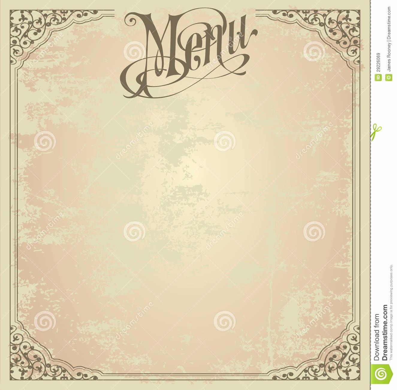 Menu Card Template Free Download Awesome Blank Menu Design Templates