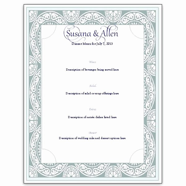 Menu Card Template Free Download Awesome Download A Free Wedding Menu Card Template Diy and Save