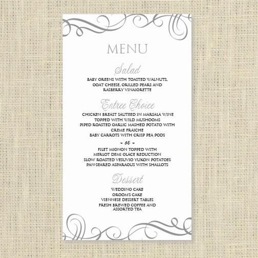 Menu Card Template Free Download Beautiful Wedding Menu Card Template Download Instantly Edit