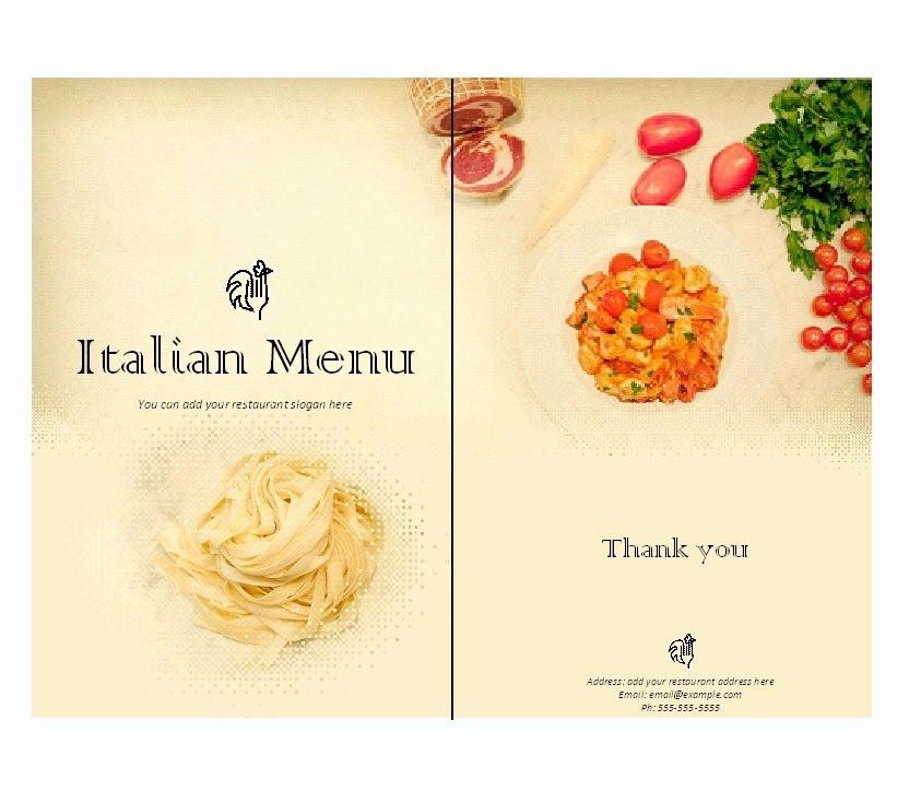 Menu Card Template Free Download Best Of 31 Free Restaurant Menu Templates & Designs Free