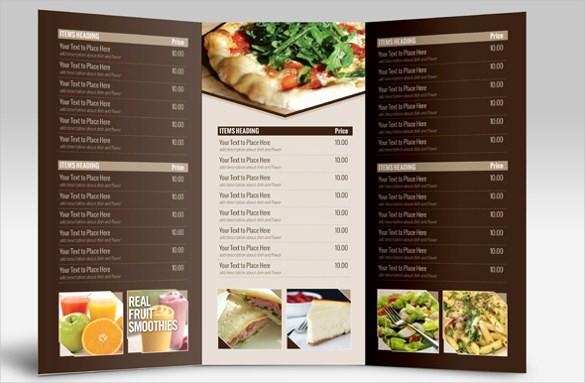 Menu Card Template Free Download Elegant 23 Catering Menu Templates Ai Psd Google Docs Apple