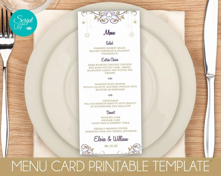 Menu Card Template Free Download Elegant 372 Best Instant Downloadable Edit and Print