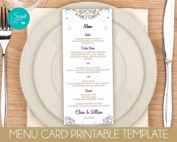 Menu Card Template Free Download Elegant 372 Best Instant Downloadable Edit and Print