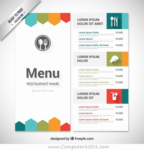 Menu Card Template Free Download Elegant Download 30 Template Menu Restoran – Puter 1001
