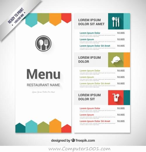 Menu Card Template Free Download Elegant Download 30 Template Menu Restoran – Puter 1001