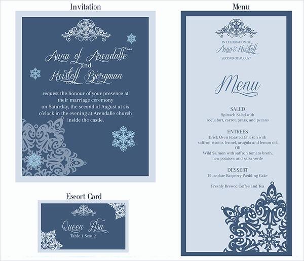 Menu Card Template Free Download Inspirational 26 Downloadable Wedding Cards