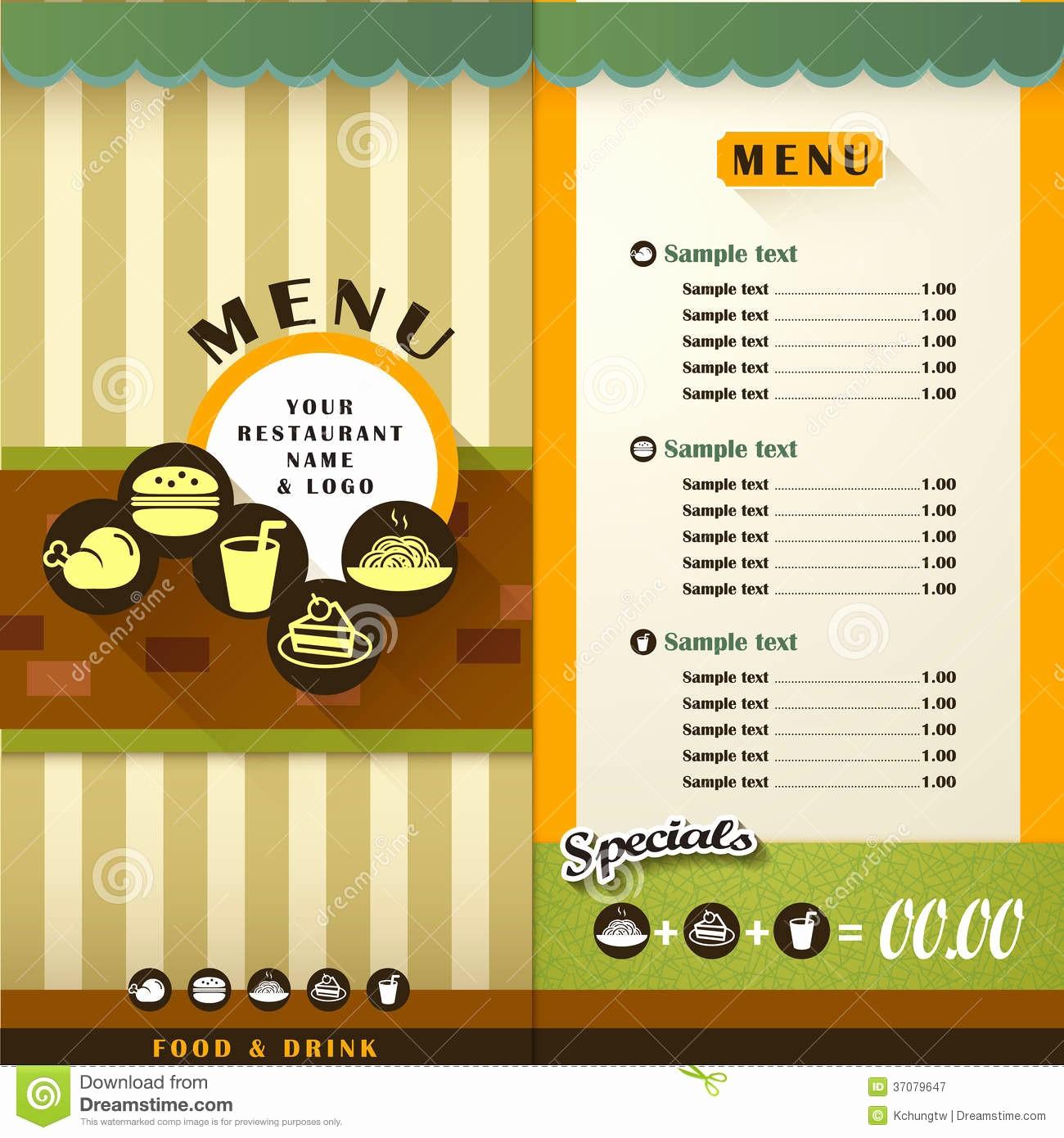 Menu Card Template Free Download Inspirational Restaurant Menu Stock Vector Illustration Of Cooking