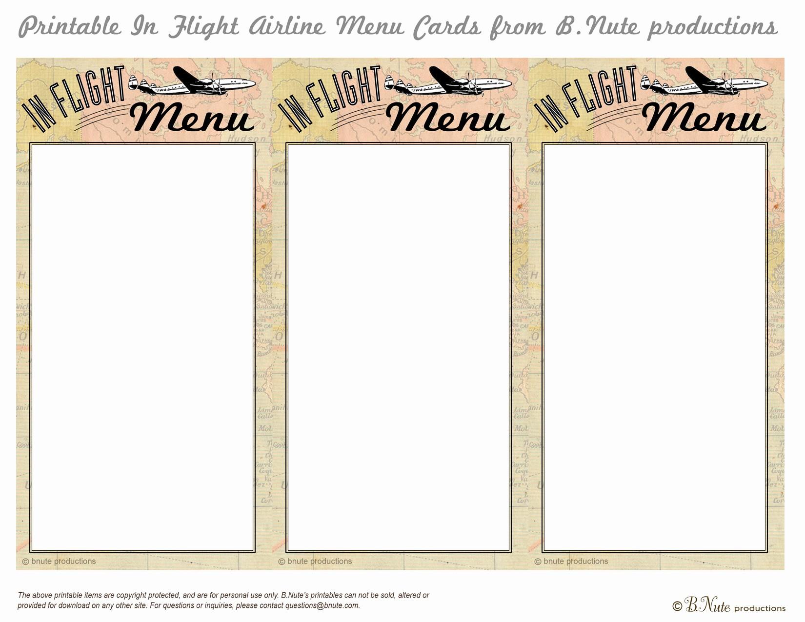 Menu Card Template Free Download New 7 Best Of Printable Menu Cards Free Printable
