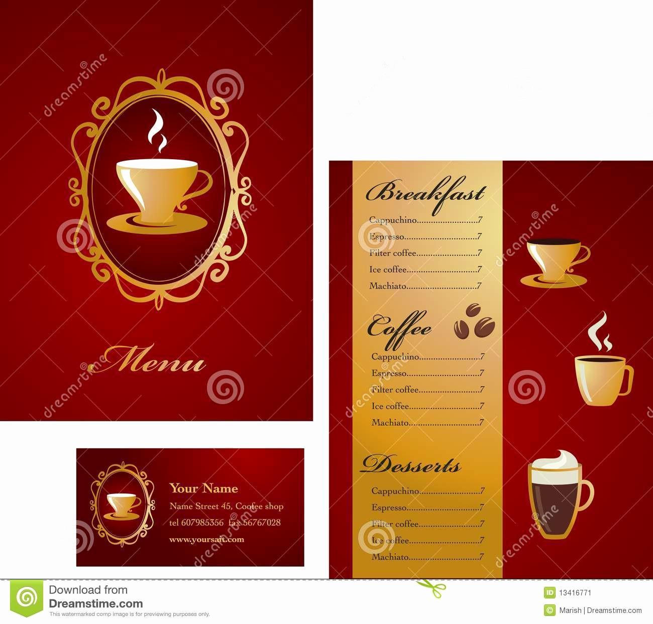 Menu Card Template Free Download New Card Menu Card Template