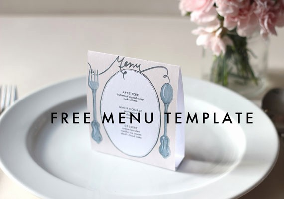 Menu Card Template Free Download New Free Downloadable Diy Wedding Menus