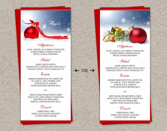 Menu Card Template Free Download Unique Free Editable Christmas Menu Templates – Fun for Christmas