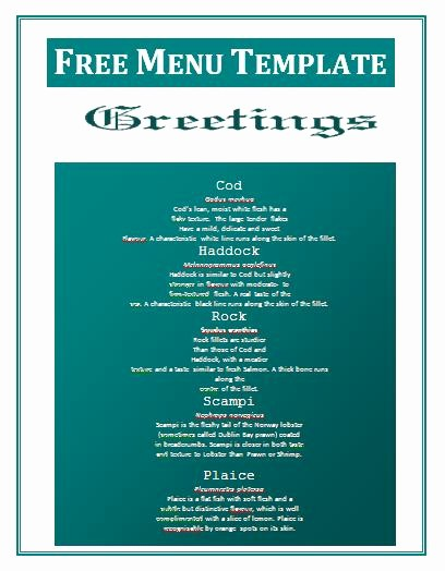 Menu Design Templates Free Download Beautiful 12 Food Menu Templates Free Free Food Menu Design