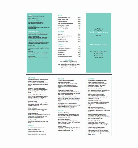 Menu Design Templates Free Download Beautiful 23 Free Menu Templates Pdf Doc Excel Psd