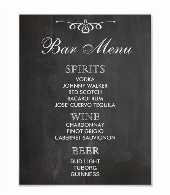 Menu Design Templates Free Download Beautiful 24 Bar Menu Templates – Free Sample Example format