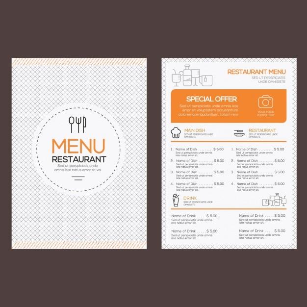 Menu Design Templates Free Download Beautiful Restaurant Menu Template Vector