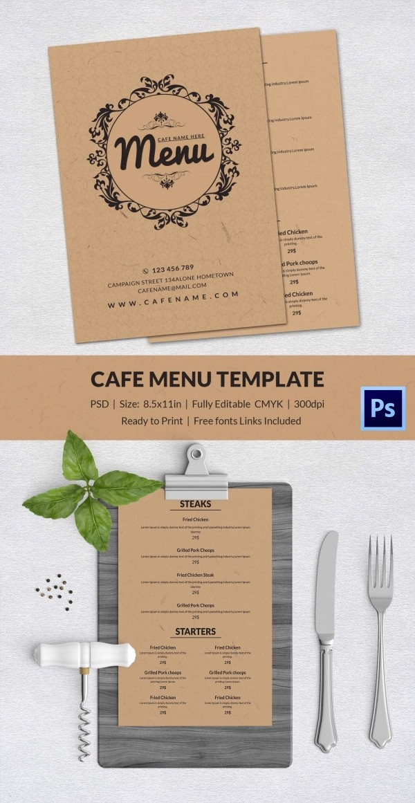 Menu Design Templates Free Download Best Of Cafe Menu Template 40 Free Word Pdf Psd Eps