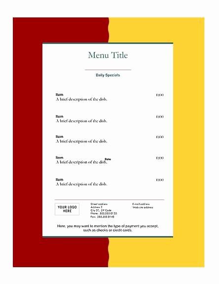 Menu Design Templates Free Download Best Of Download Free Restaurant Menu Templates