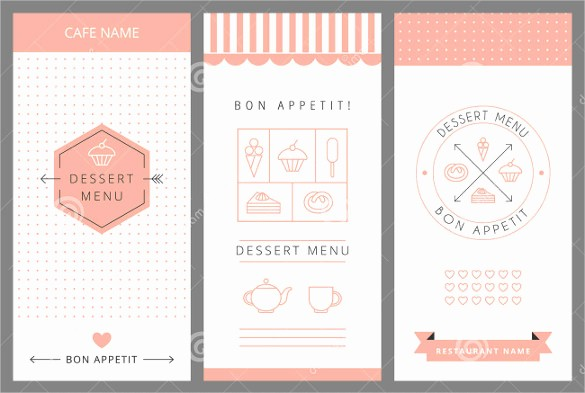 Menu Design Templates Free Download Elegant Dessert Menu Templates – 21 Free Psd Eps format Download