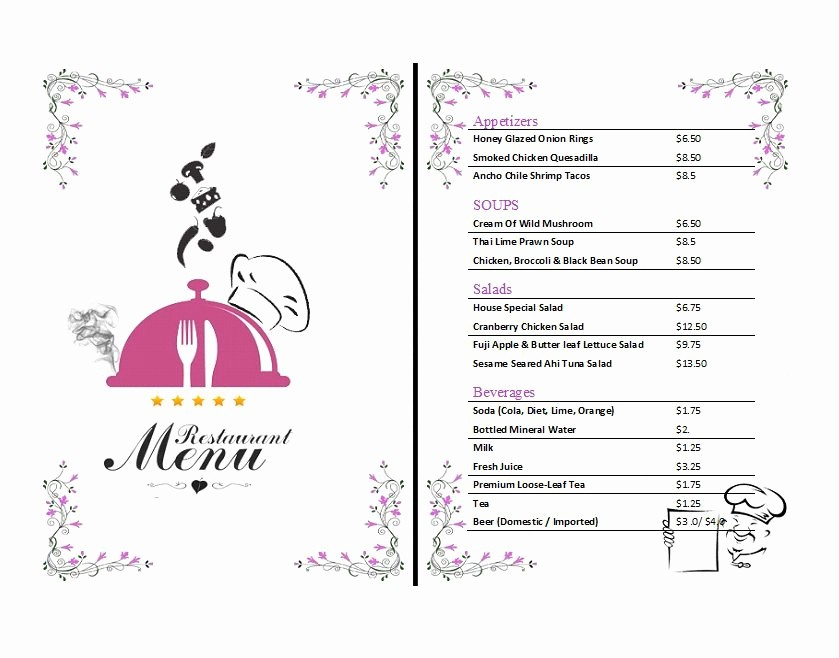 Menu Design Templates Free Download Fresh 30 Restaurant Menu Templates & Designs Template Lab