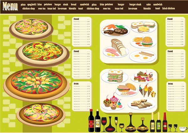 Menu Design Templates Free Download Fresh Restaurant Menu Design Template Vector Free Vector In