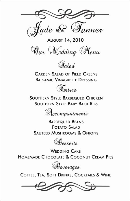 Menu Design Templates Free Download Inspirational Wedding Menu Templates