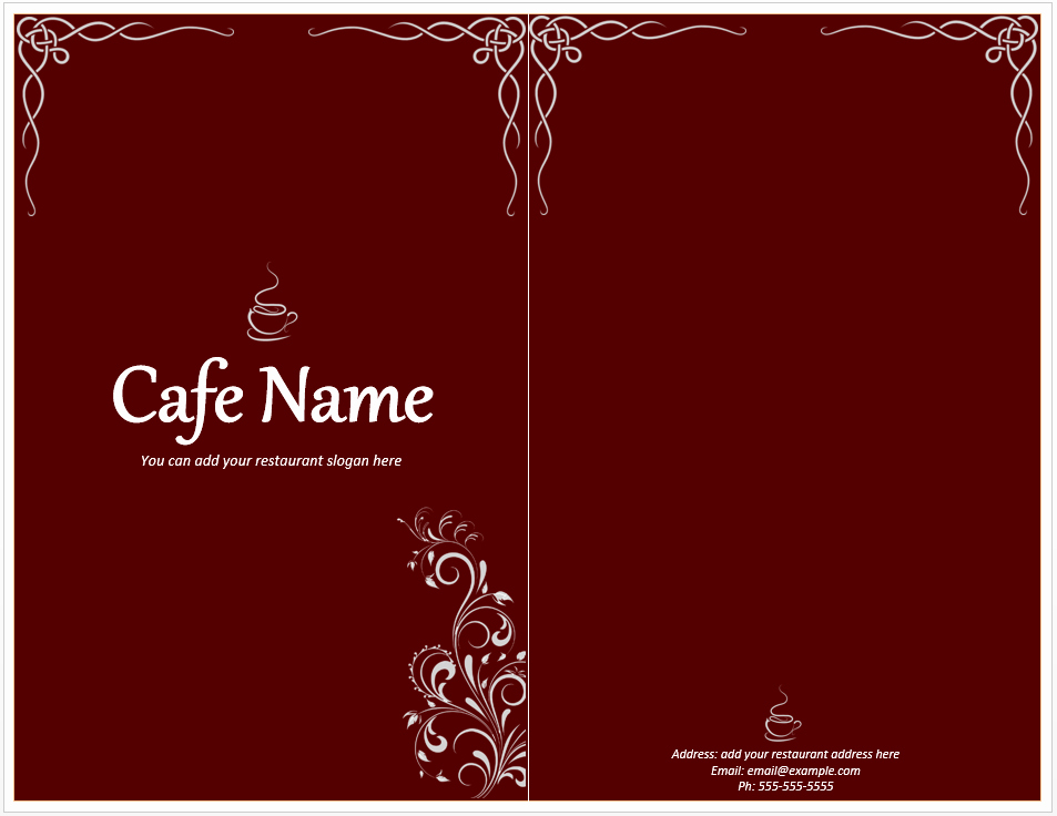 Menu Design Templates Free Download Lovely Cafe Menu Template Free Template Downloads