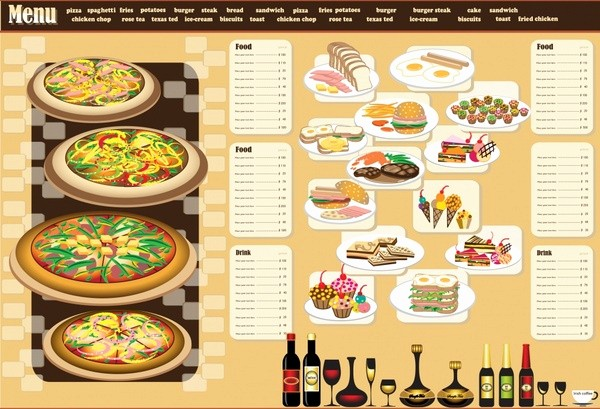 Menu Design Templates Free Download Lovely Restaurant Menu Design Template Vector Free Vector In