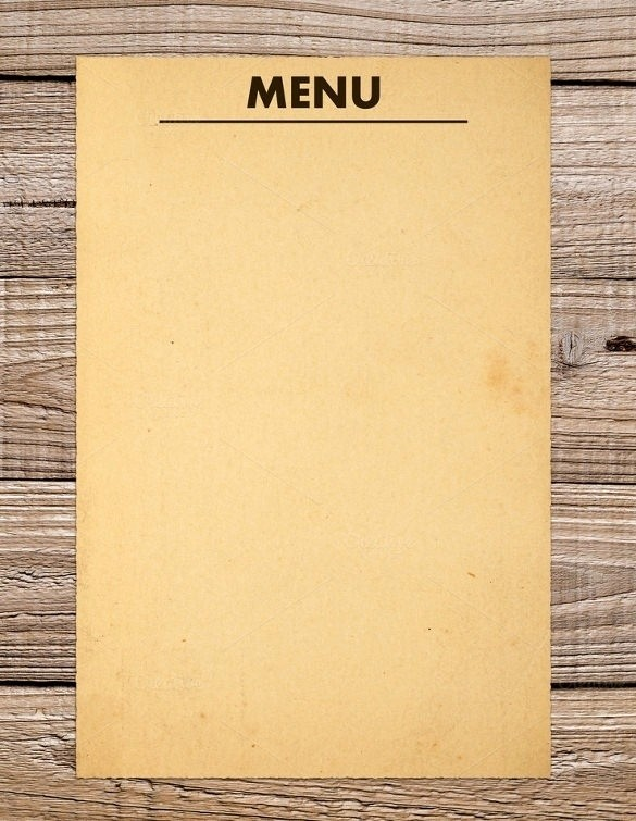 Menu Design Templates Free Download Luxury Blank Menu Template Free Download