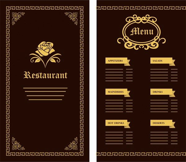 Menu Design Templates Free Download Luxury Restaurant Menu Template Free Vector 17 626 Free