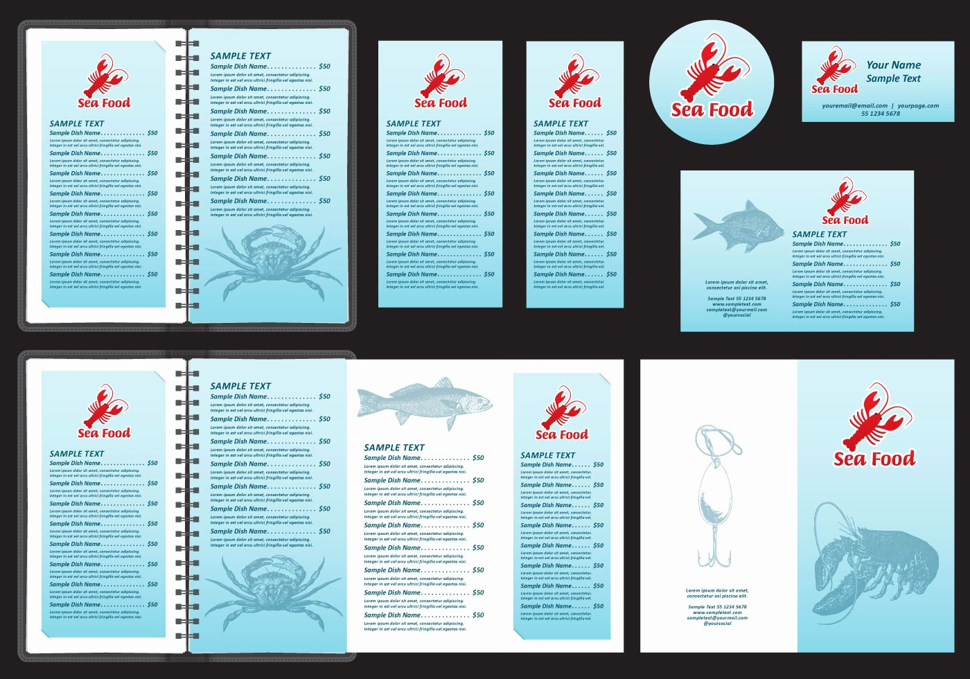 Menu Design Templates Free Download Luxury Seafood Menu Templates Download Free Vector Art Stock