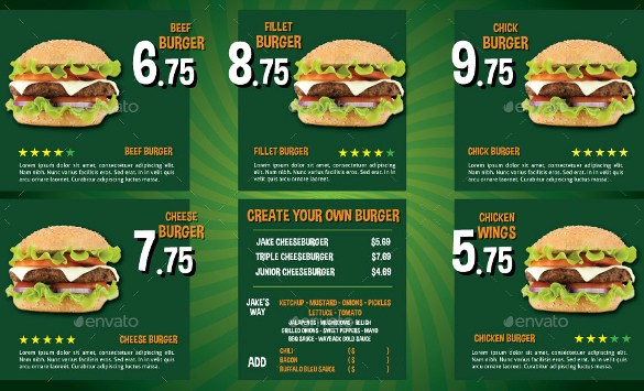 Menu Design Templates Free Download Unique 40 Menu Design Templates – Free Sample Example format