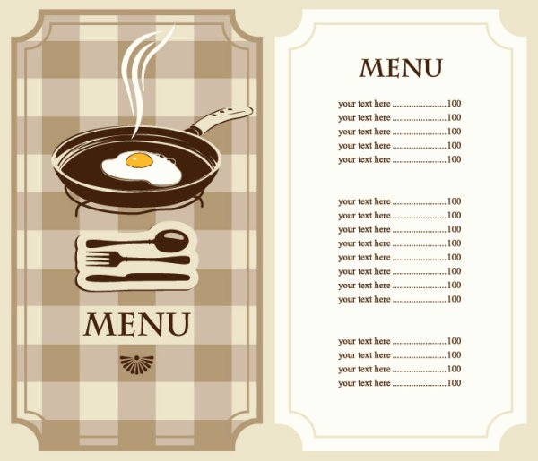 Menu Design Templates Free Download Unique Set Of Cafe and Restaurant Menu Cover Template Vector 04