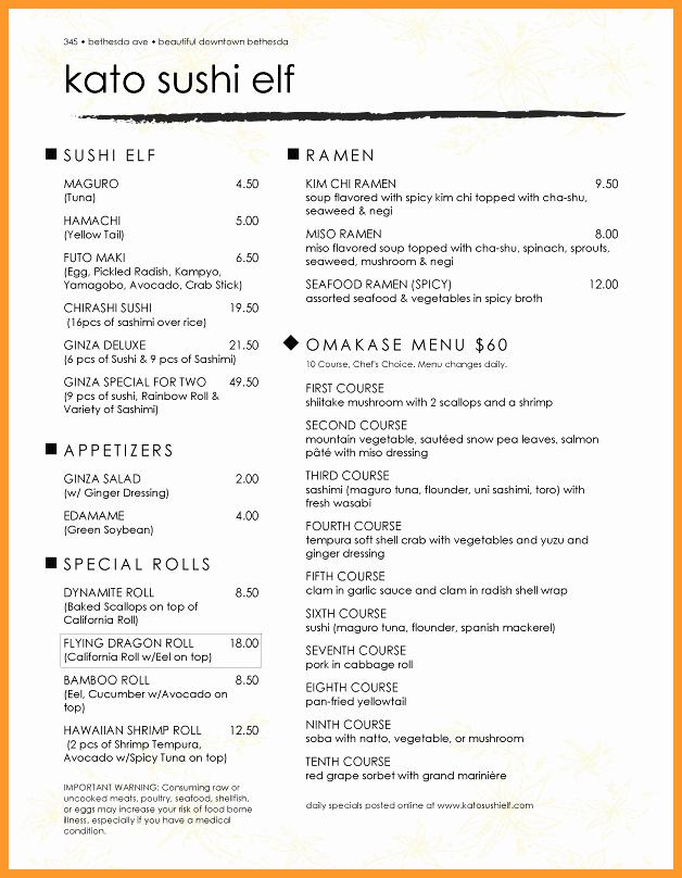 Menu Templates for Google Docs Awesome 11 12 Restaurant Menu Template Google Docs