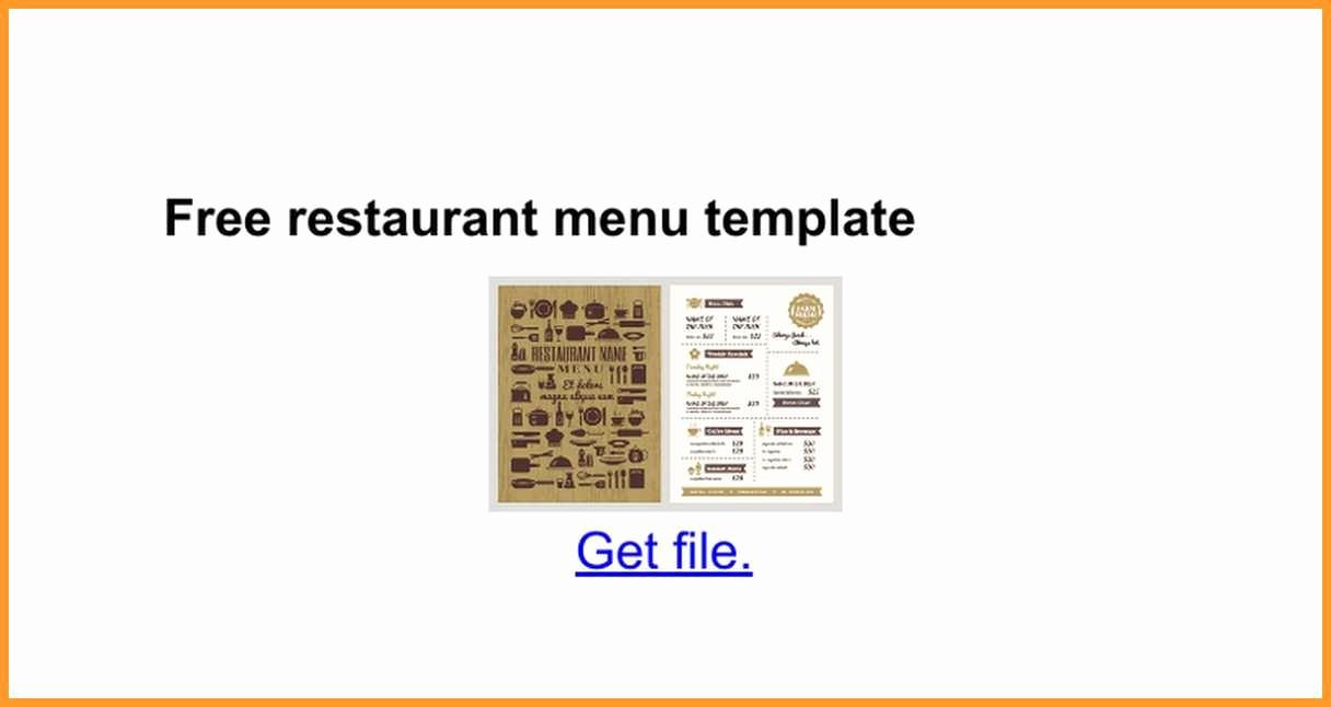 Menu Templates for Google Docs Inspirational 11 12 Restaurant Menu Template Google Docs