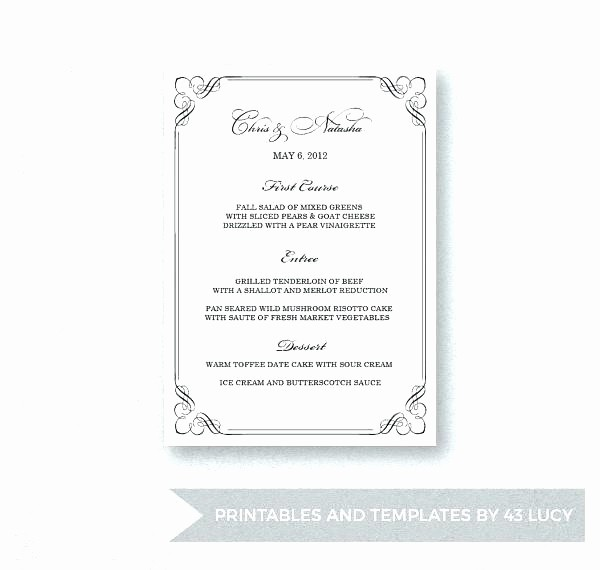 Menu Templates for Google Docs Lovely Free Cafe Menu Templates for Microsoft Word Blank Template